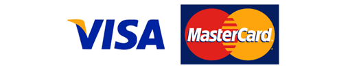 We accept Visa + Mastercard